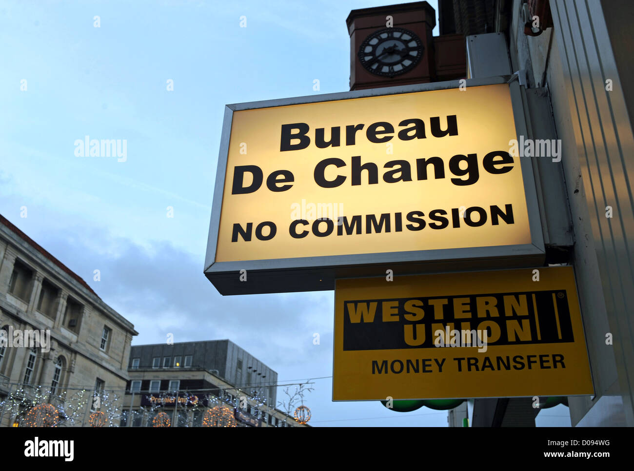 Bureau de change and western union money transfer shop in north