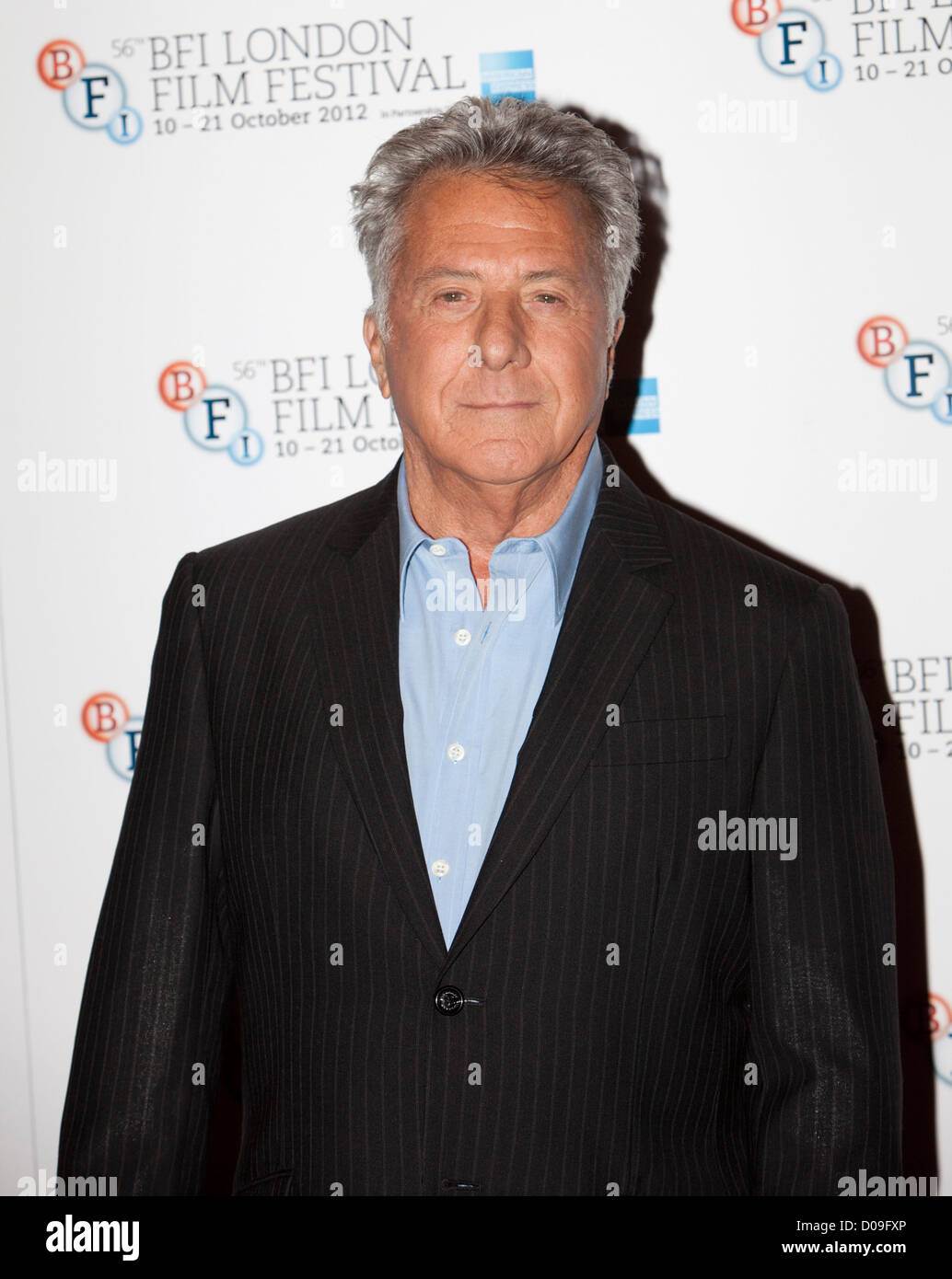dustin hoffman at a Photocall at the Empire theatre FOR THE BFI London film festival, Leicester Square for the film - Stock Image