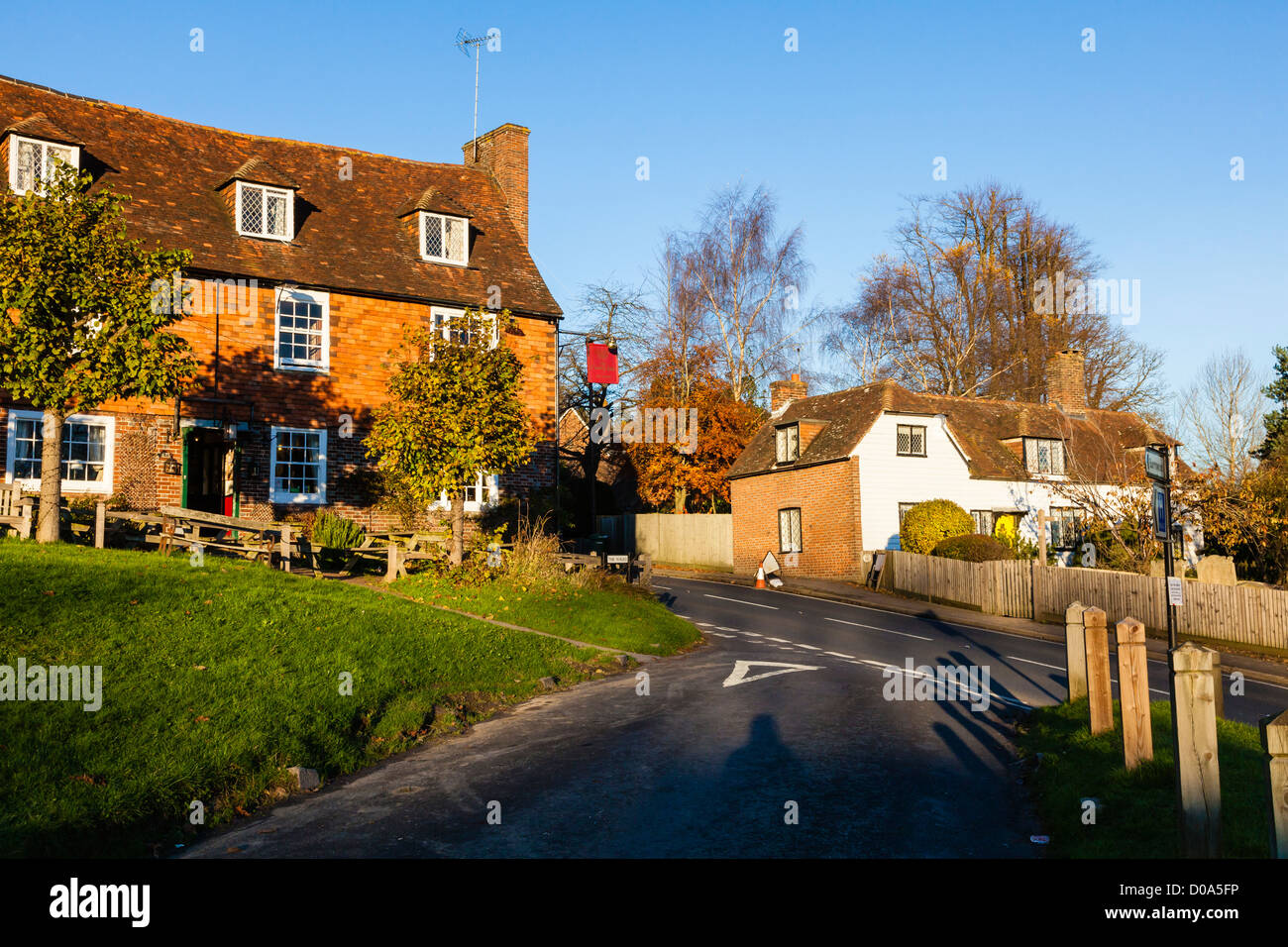 The Crown Inn, a Free House in attractive village of Groombridge on the border of East Sussex and Kent, UK Stock Photo