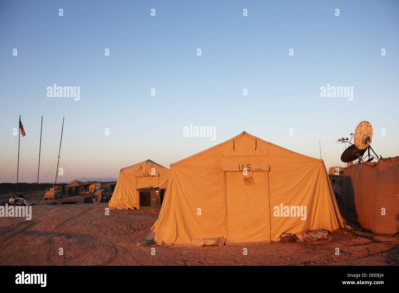 Military tents at a U.S. Marine Corps combat outpost in southern Helmand Province Afghanistan. & Military tents at a U.S. Marine Corps combat outpost in southern ...