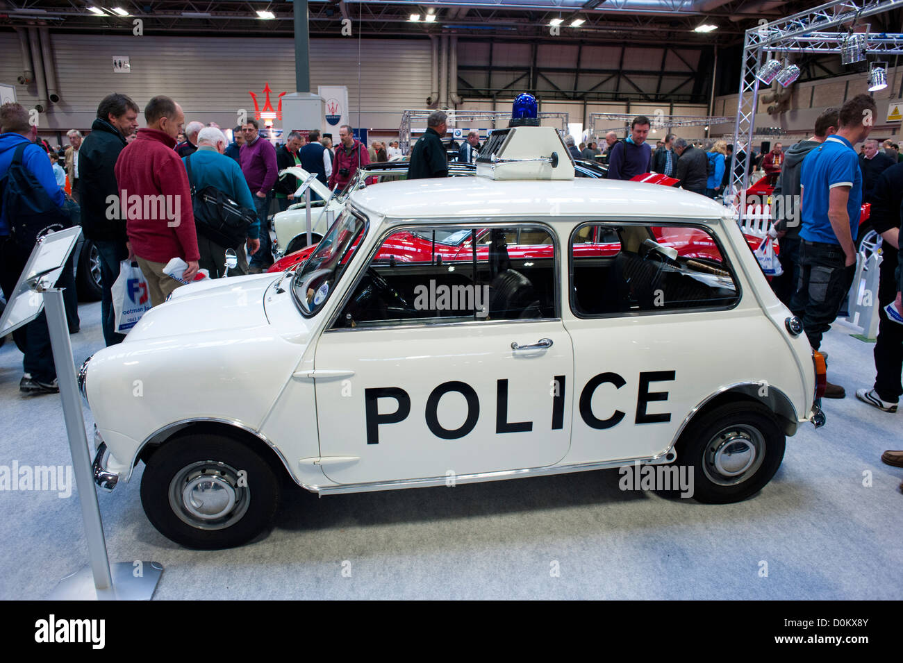 Mini police car at the 2012 Classic Motor Show, NEC, Birmingham, West Midlands - Stock Image