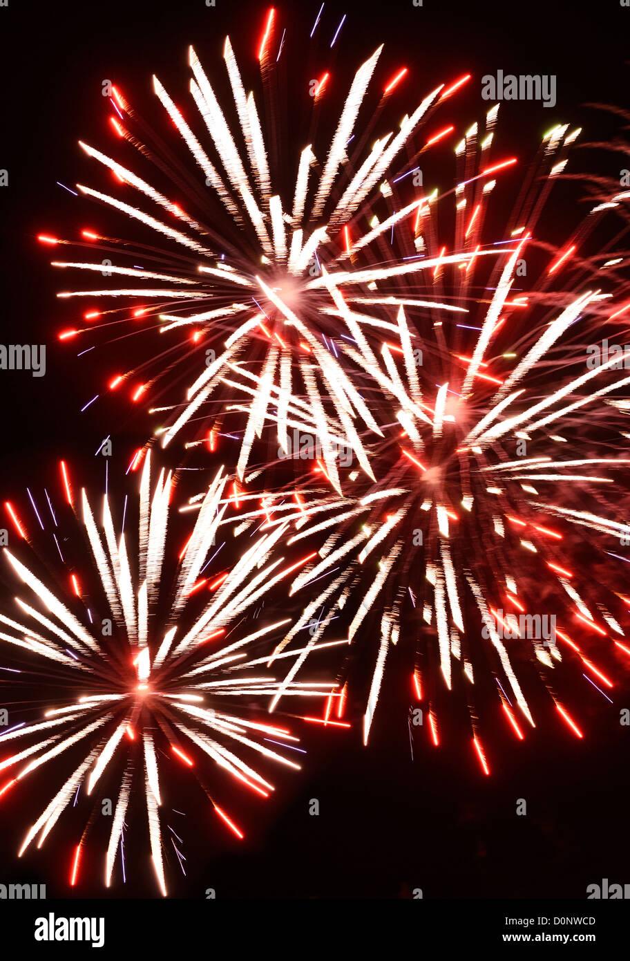 Firework explosion - Stock Image