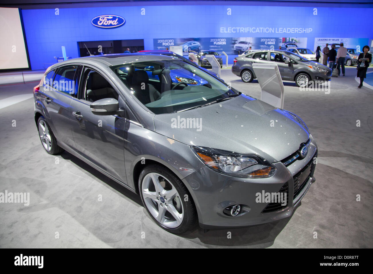 2013 Ford C_Max Hybrid. New 2013 Electric and Hybrid Green cars are featured at the Los Angeles Auto show on November - Stock Image