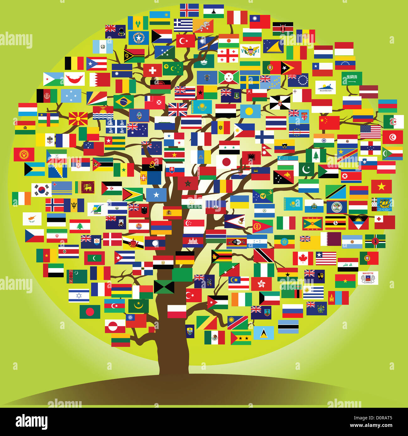 peace tree symbol of the frienship between nations - Stock Image