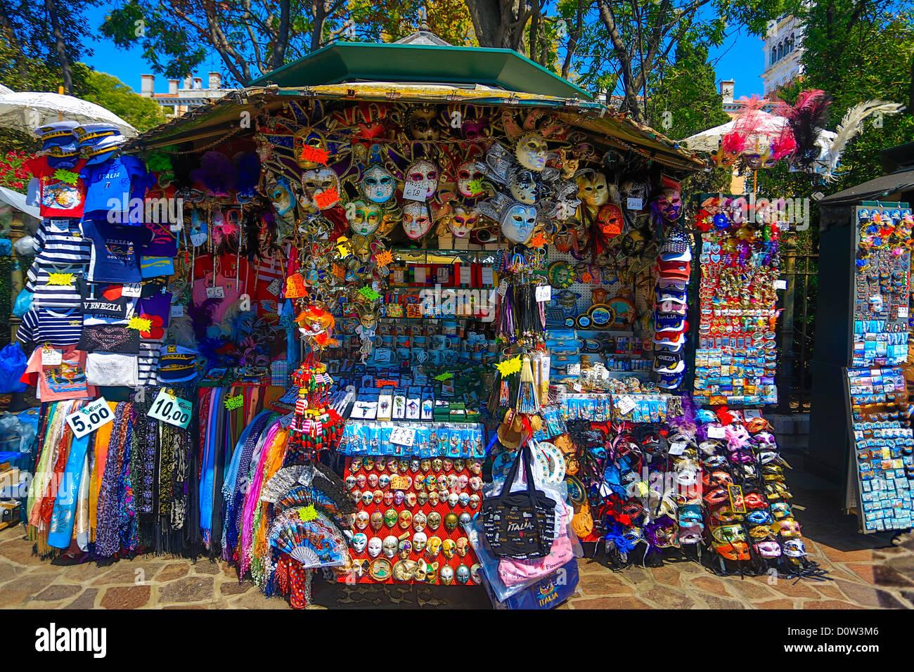 Italy, Europe, travel, Venice, Souvenir, shop, tourism, - Stock Image