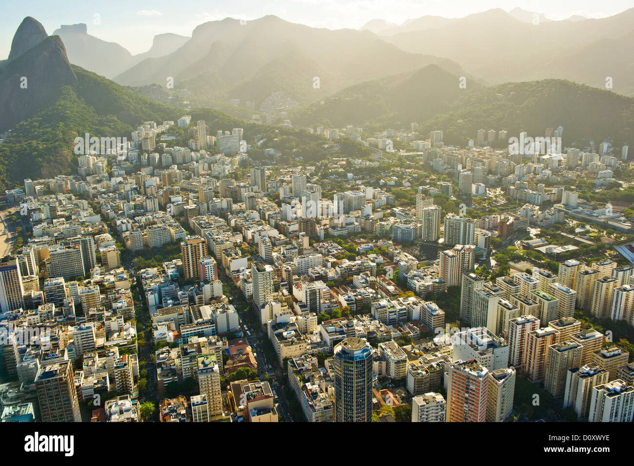 Aerial view of districts of Rio de Janeiro, Brazil - Stock Image