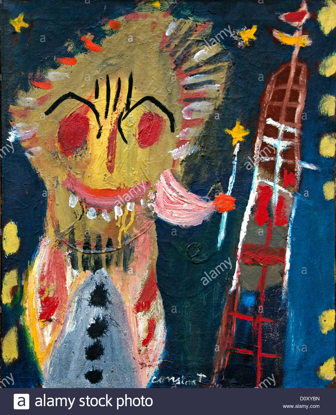 Untitled 1948 Constant  Netherlands Dutch painter - Stock Image