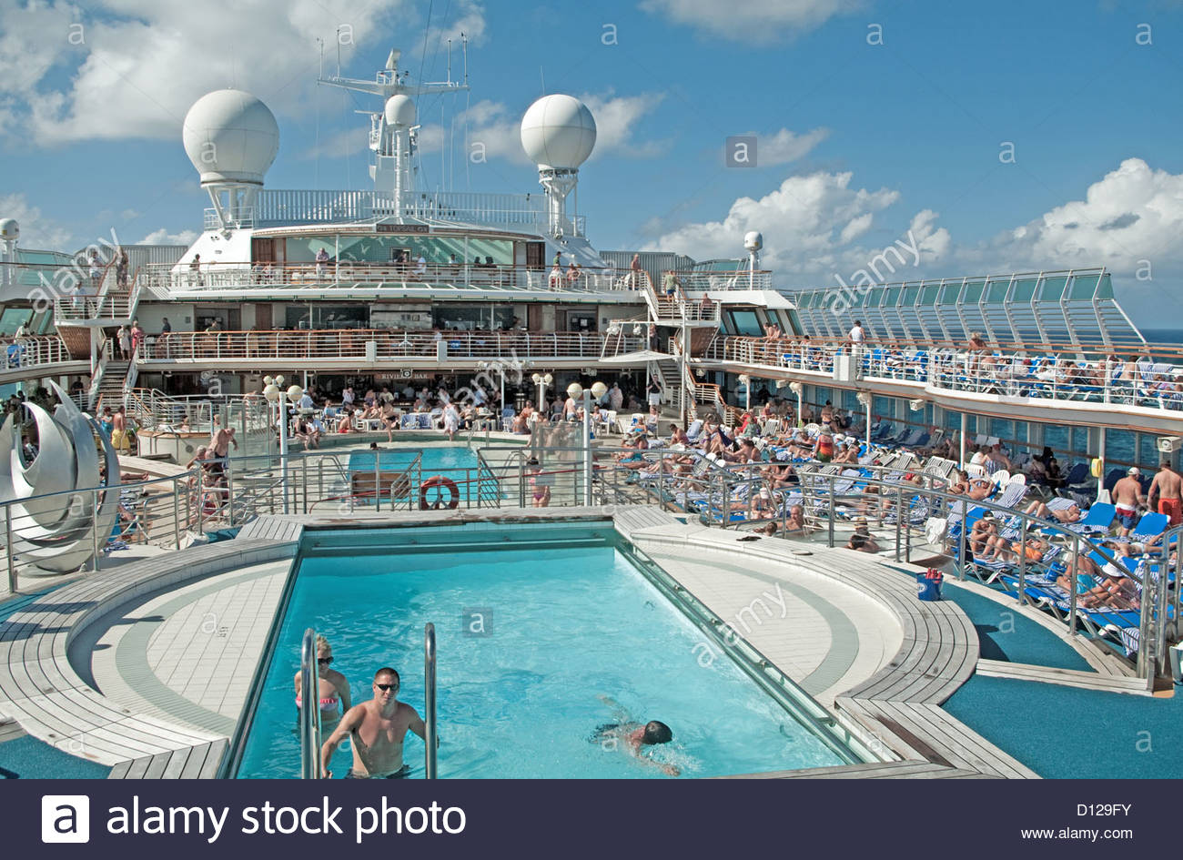 Sea Princess Top Deck Caribbean West Indies Stock Photo