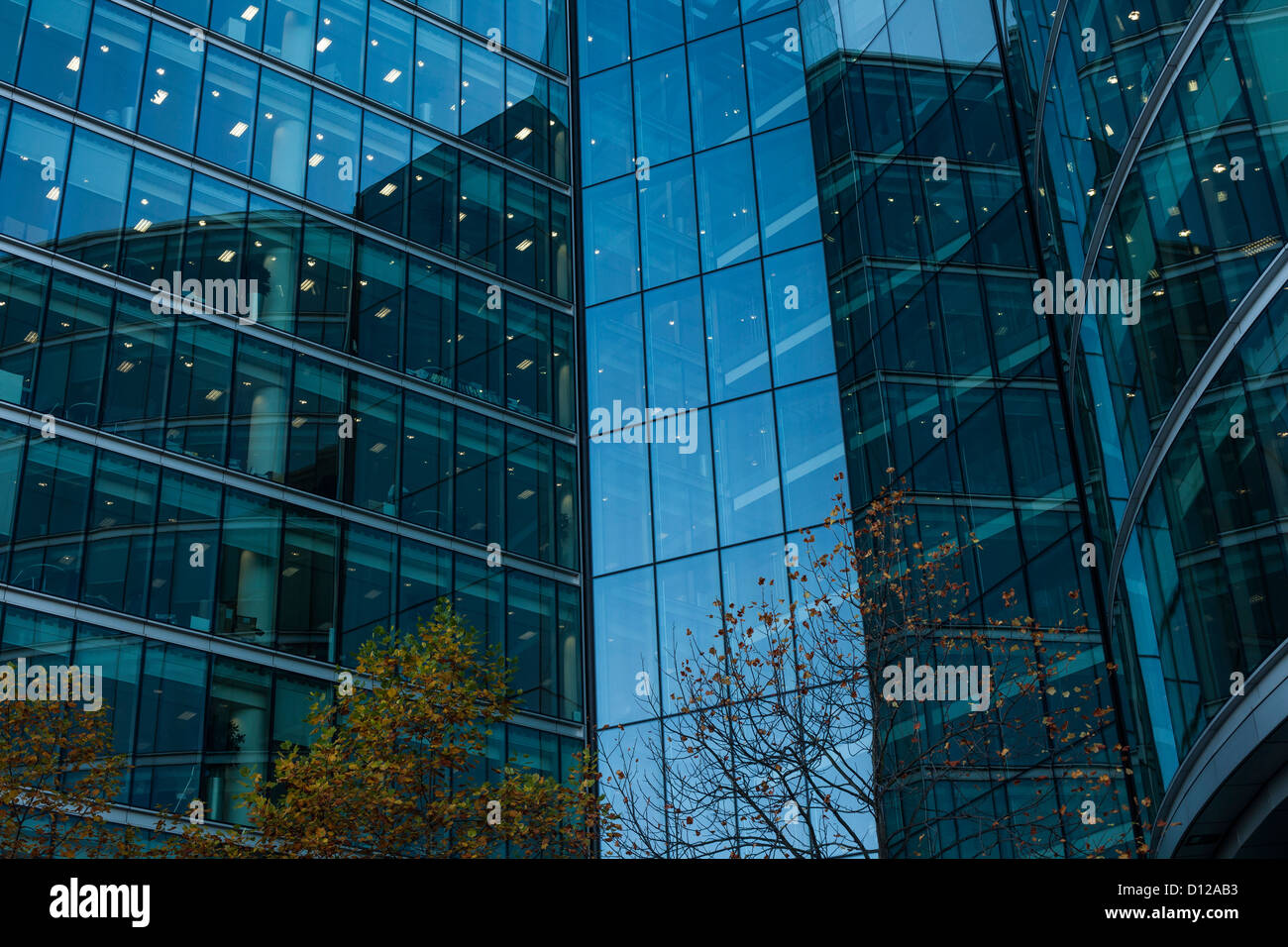 More London Offices, Glass Buildings, Architecture - Stock Image