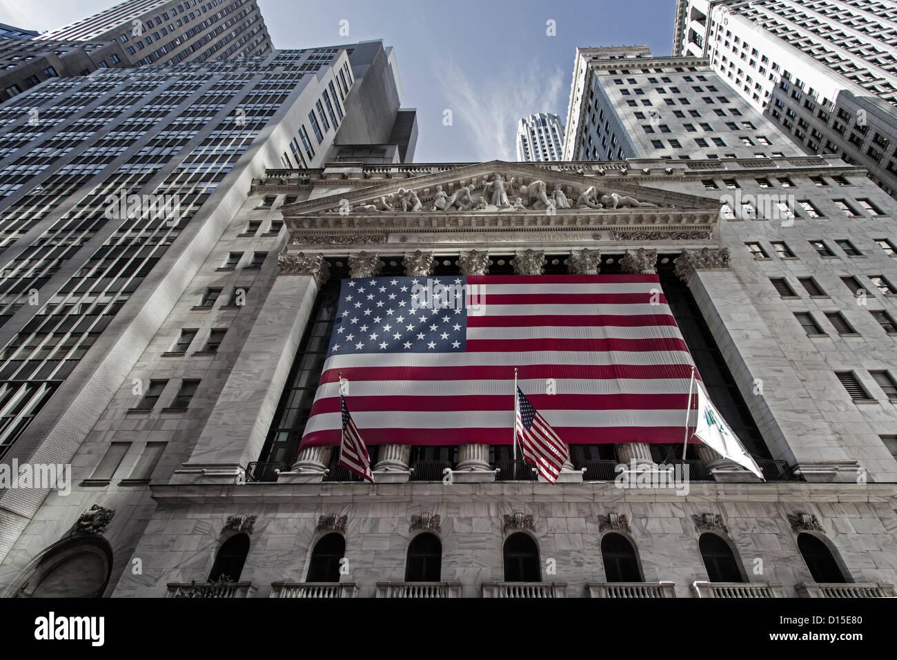 New York Stock Exchange Manhattan, Wall Street, New York - Stock Image