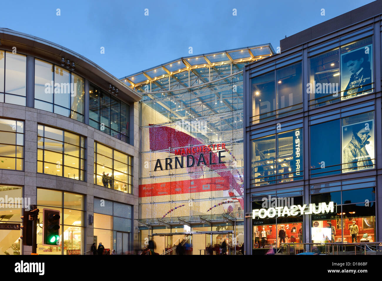 4c2ae7102d9c Entrance to The Manchester Arndale Centre Stock Photo  52426403 - Alamy
