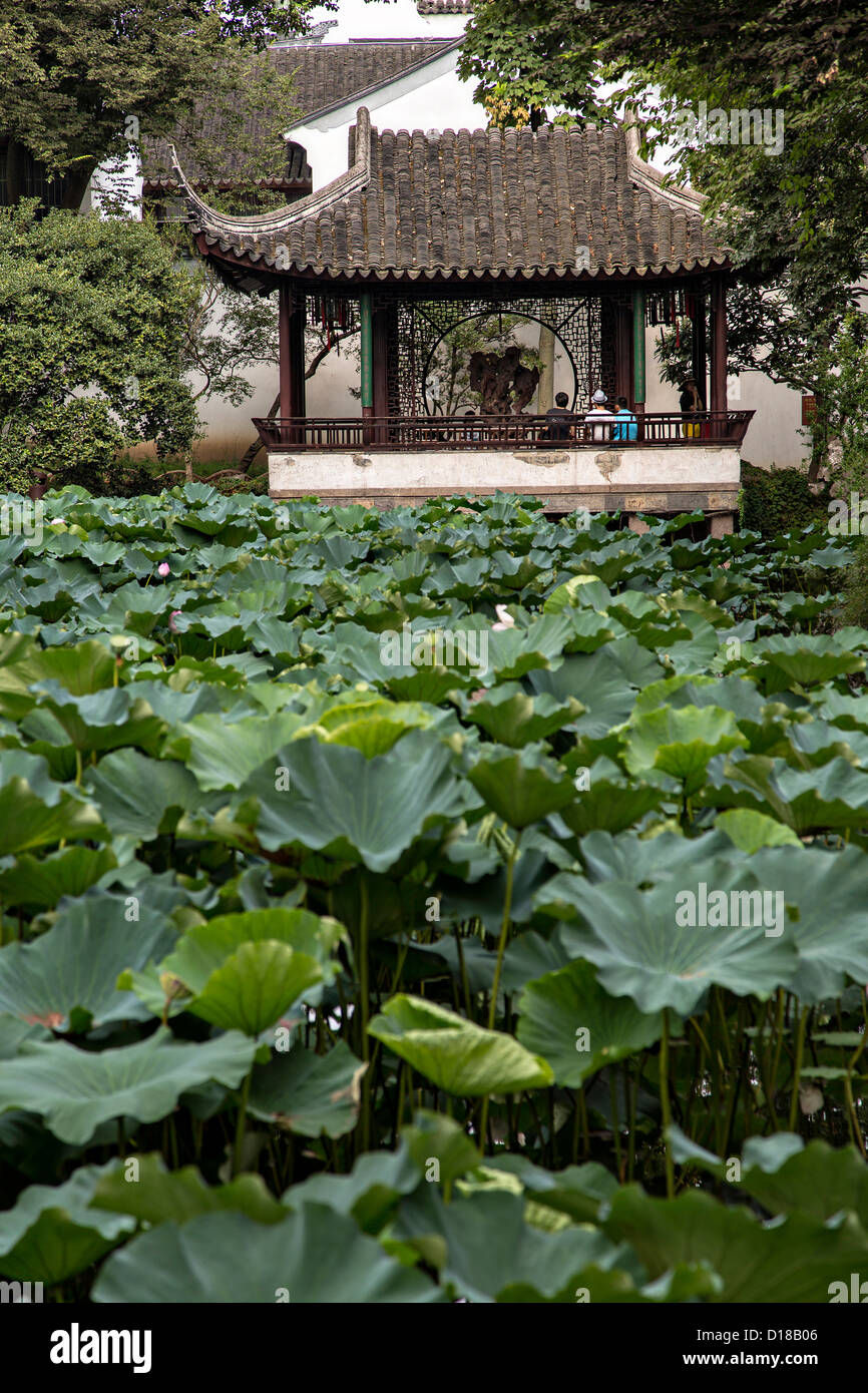 Humble Administrator's garden in Suzhou, China. - Stock Image