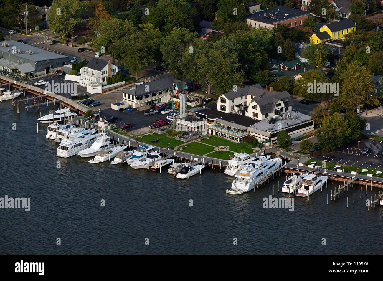 aerial photograph Saugatuck, Michigan - Stock Image
