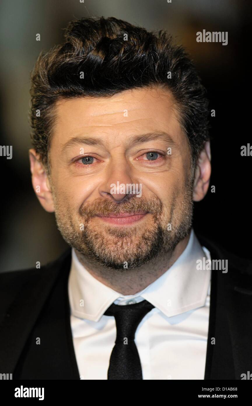 Andy Serkis attends the 65th Royal Film Performance and UK premiere of THE HOBBIT: AN UNEXPECTED JOURNEY on 12/12/2012 - Stock Image