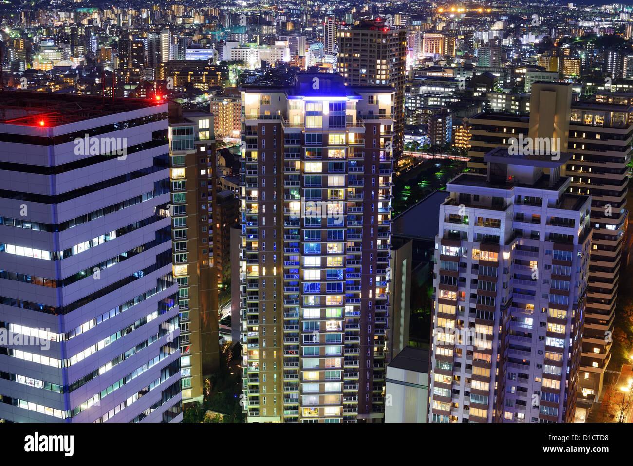 Cityscape of Fukuoka, Japan. - Stock Image