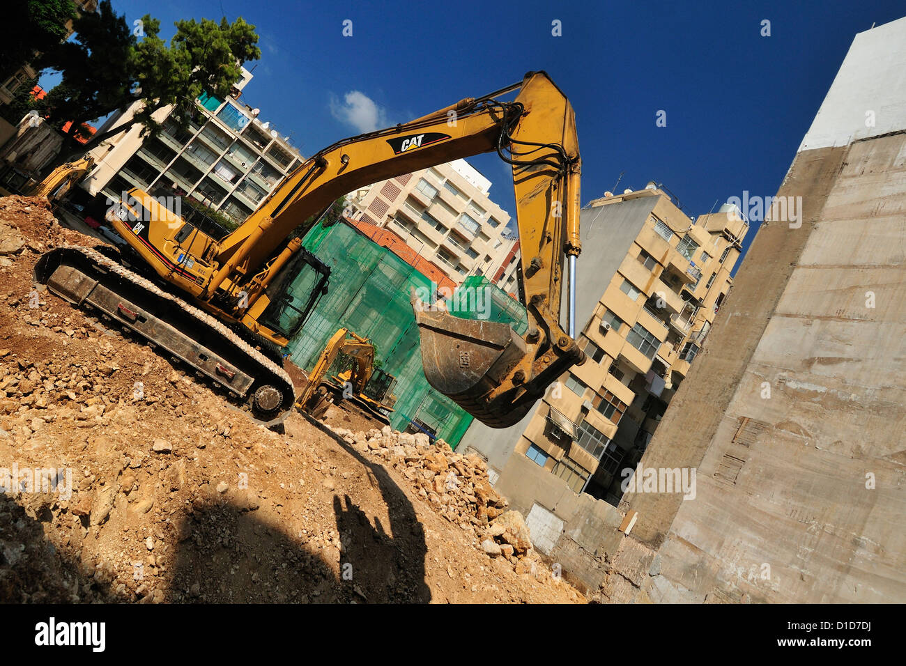 Buildings under construction, Beirut, Lebanon - Stock Image