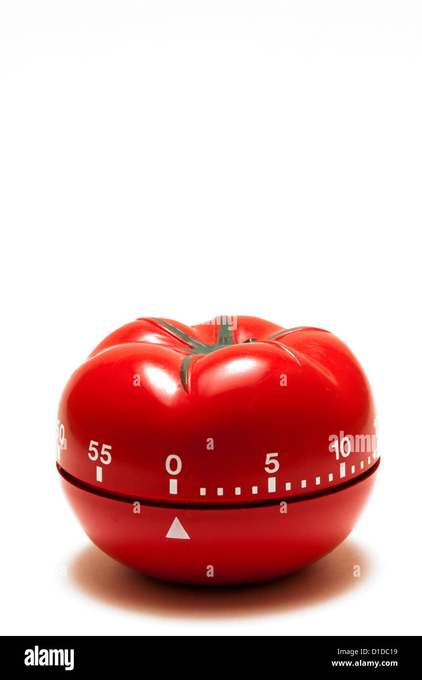A kitchen timer in the shape of a tomato. Stock Photo