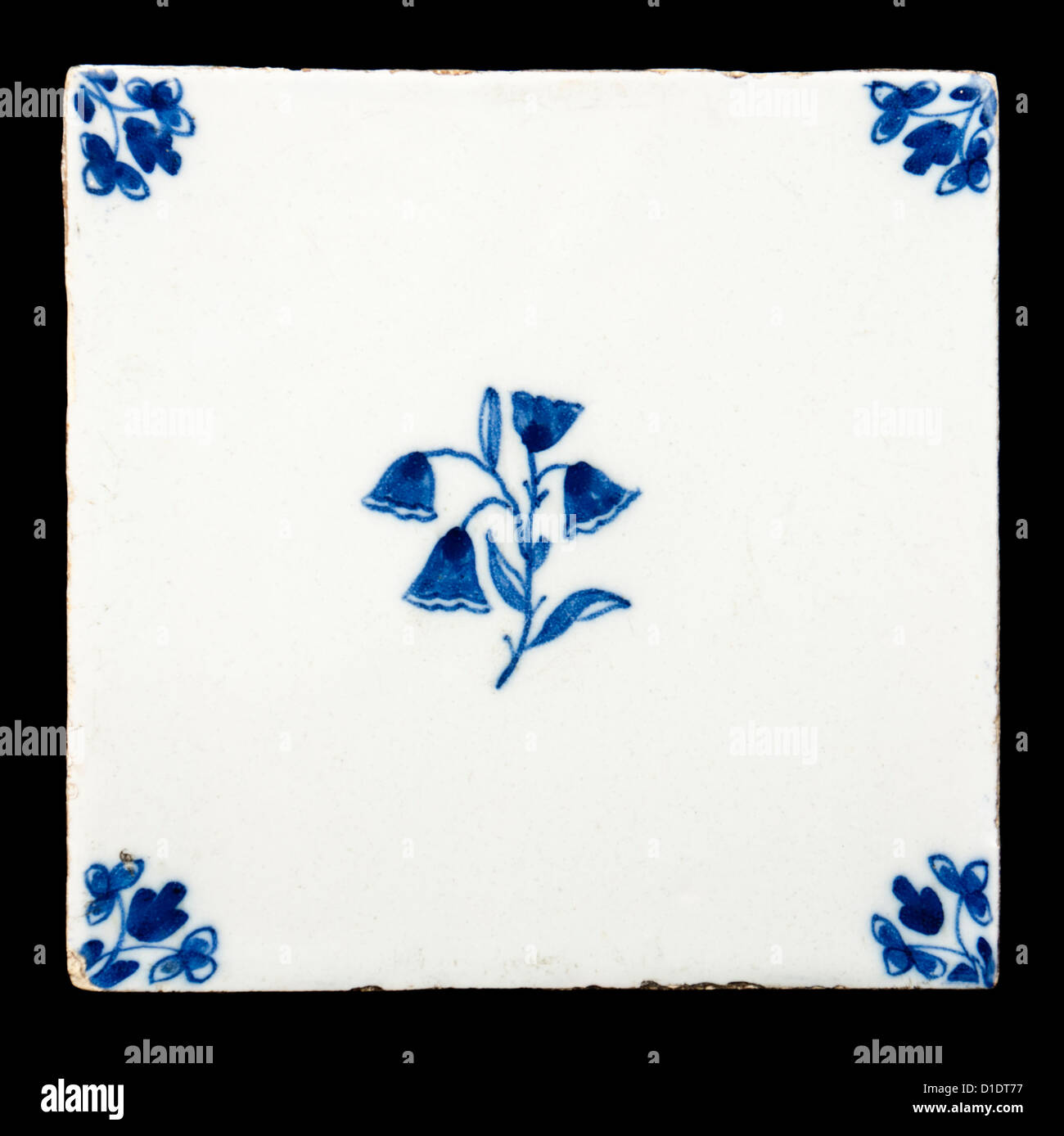 Delft tile stock photos delft tile stock images alamy antique delft ceramic tile stock image dailygadgetfo Image collections