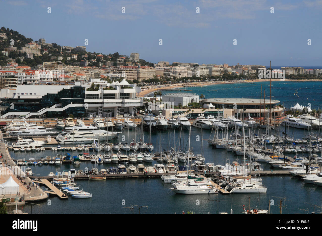 Casino and harbour, Cannes, Alpes Maritimes, Provence, Cote d'Azur, French Riviera, France, Mediterranean, Europe - Stock Image