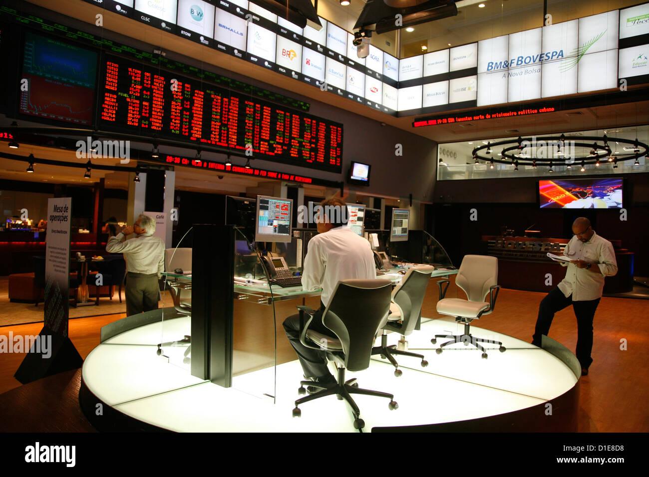 The Bovespa Stock Exchange, Sao Paulo, Brazil, South America - Stock Image