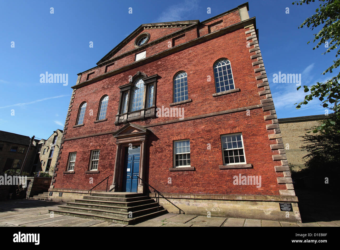 Square Chapel Centre for the Arts, brick built Georgian architecture, in Halifax, West Yorkshire, Yorkshire, England - Stock Image