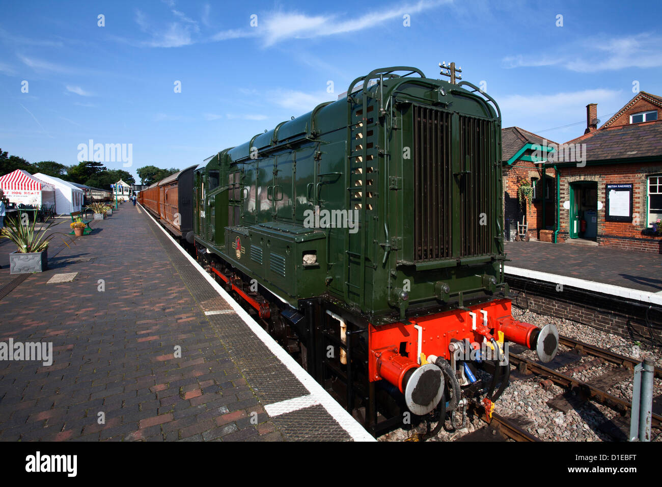 Class 08 Locomotive D3940 on the Poppy Line, North Norfolk Railway, at Sheringham, Norfolk, England, United Kingdom, - Stock Image
