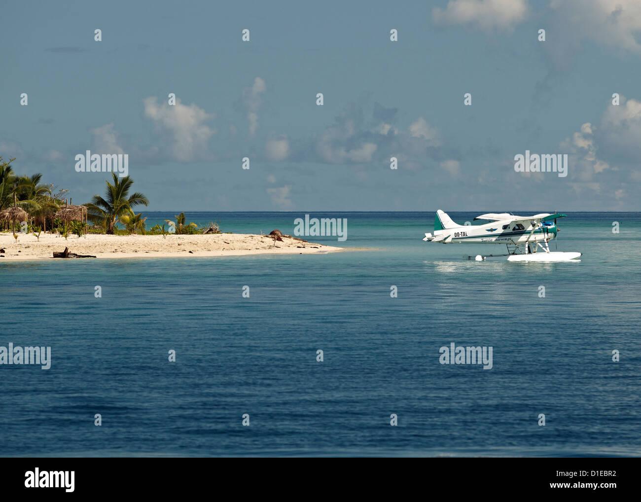 Boat plane off West coast of Viti Levu, Fiji, Pacific Islands, Pacific - Stock Image