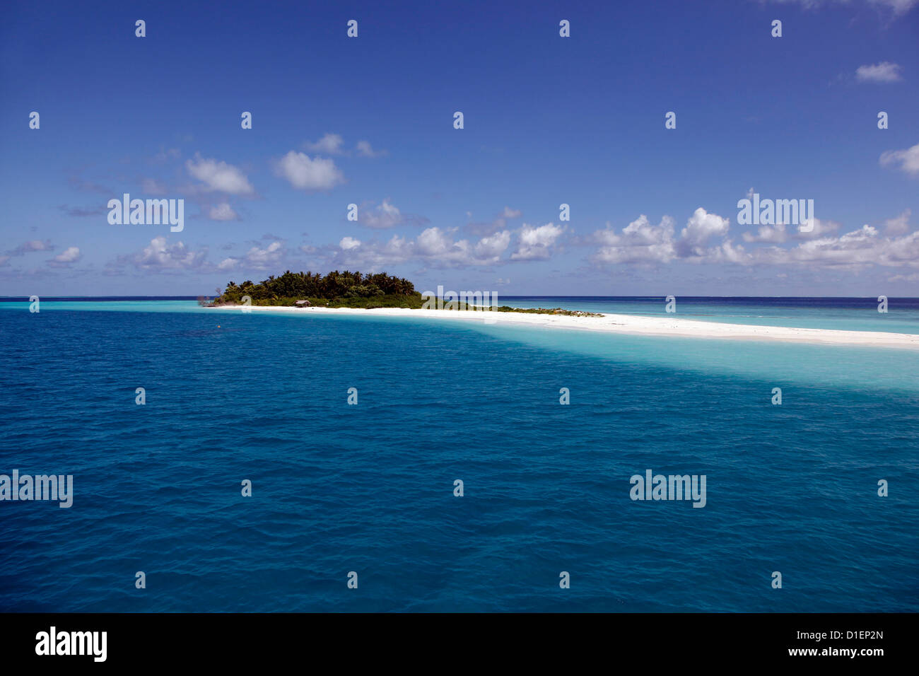 Small island in the the Baa Atoll, Maldives - Stock Image