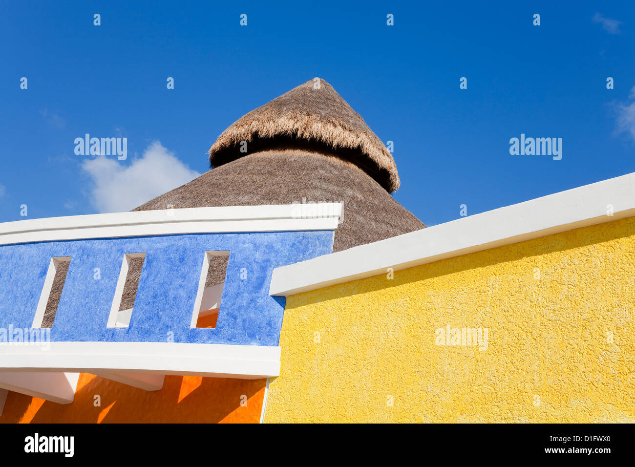 Architecture in Puerta Maya, Cozumel Island, Quintana Roo, Mexico, North America - Stock Image
