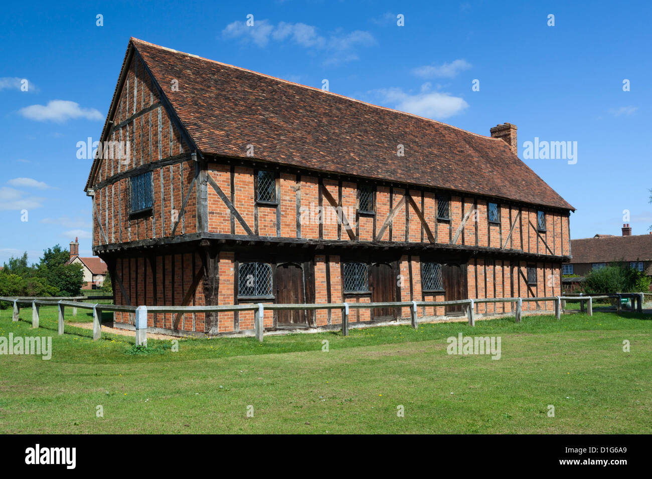 The 15th century Moot Hall, Elstow, Bedfordshire, England, United Kingdom, Europe - Stock Image