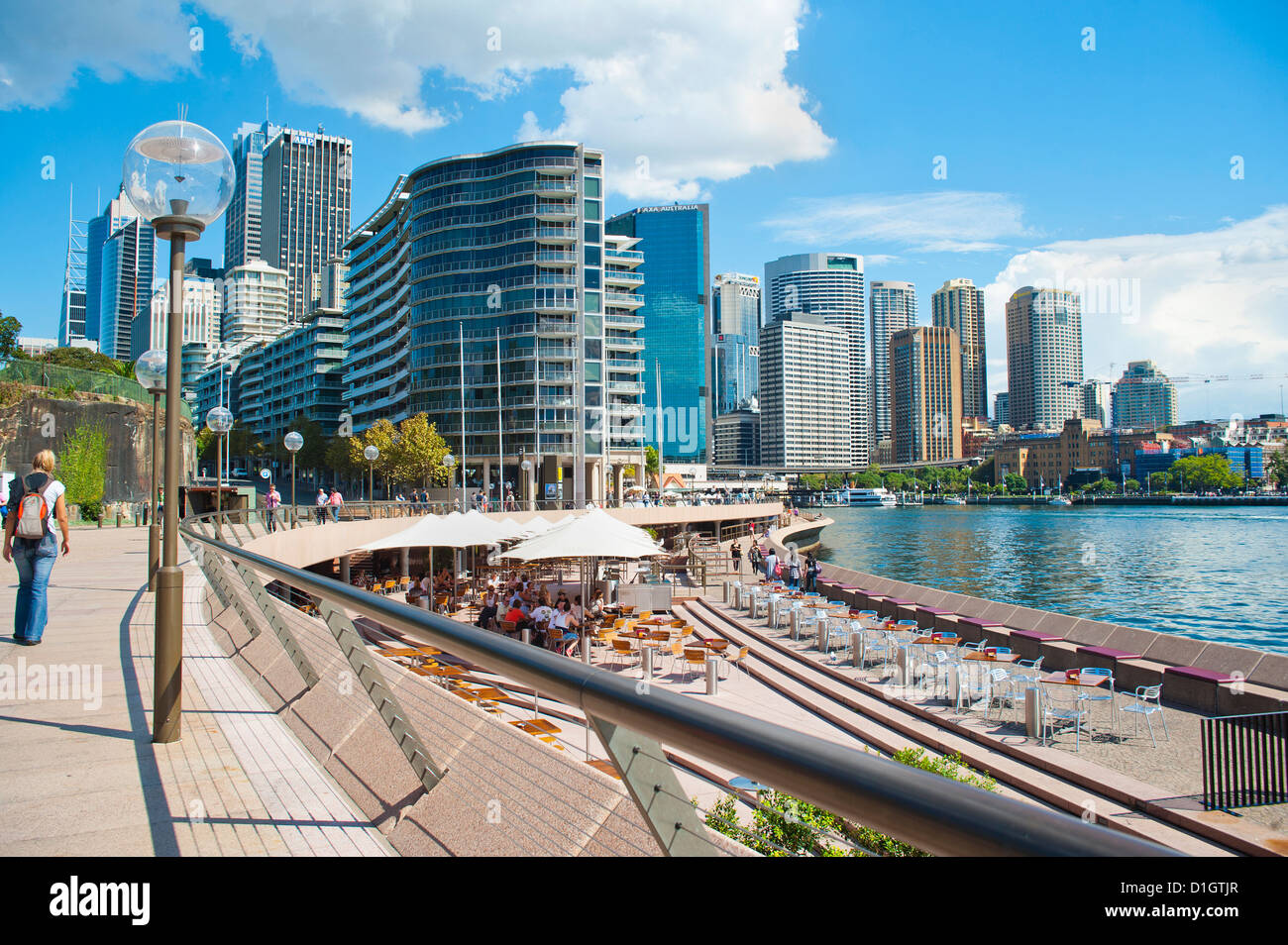 Sydney city centre and Circular Quay at Sydney Harbour, Sydney, New South Wales, Australia, Pacific - Stock Image