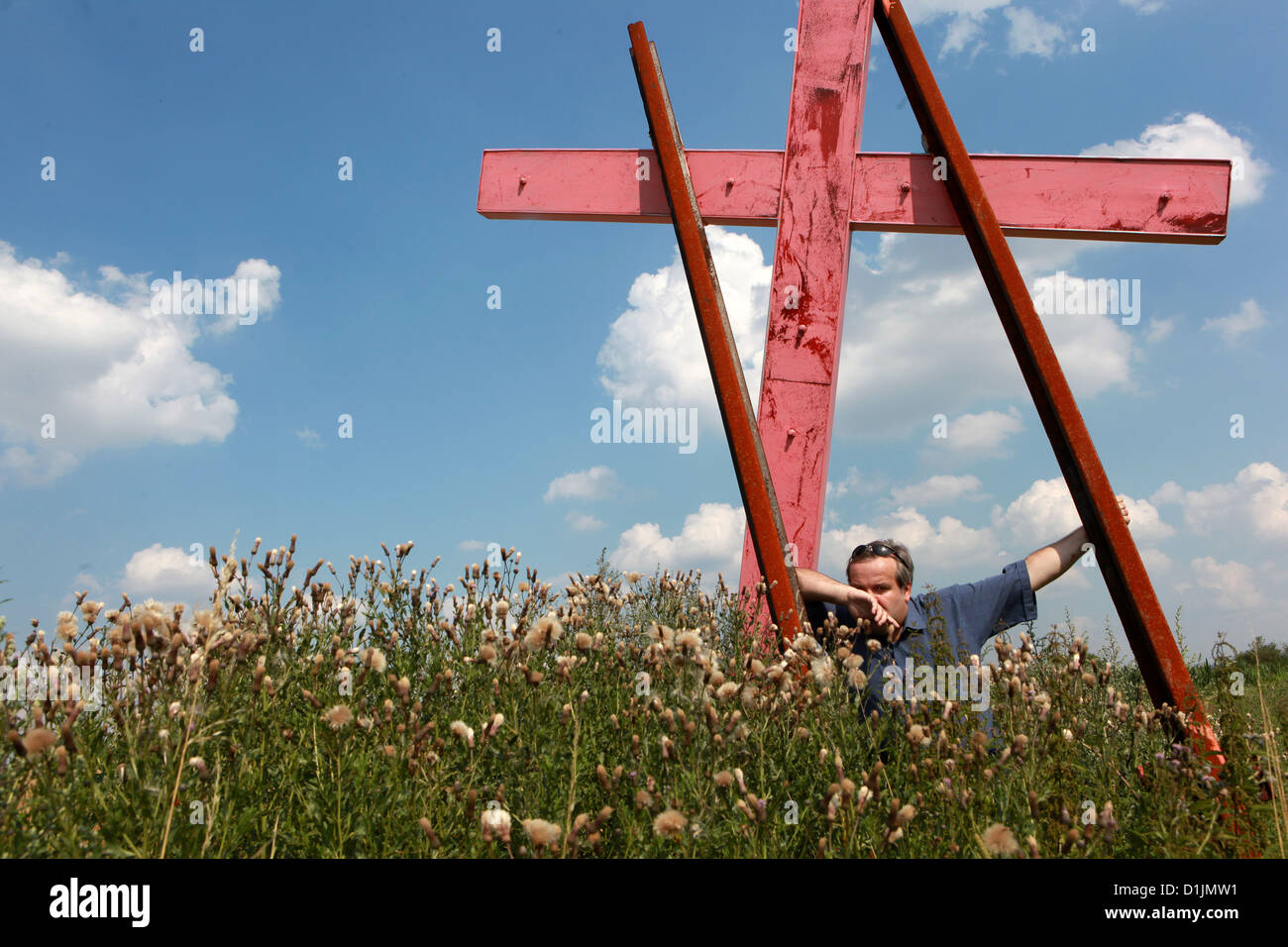 Dobronin massacre at the event from May 19, 1945 massacre committed by Czechs against a group of German citizens, - Stock Image