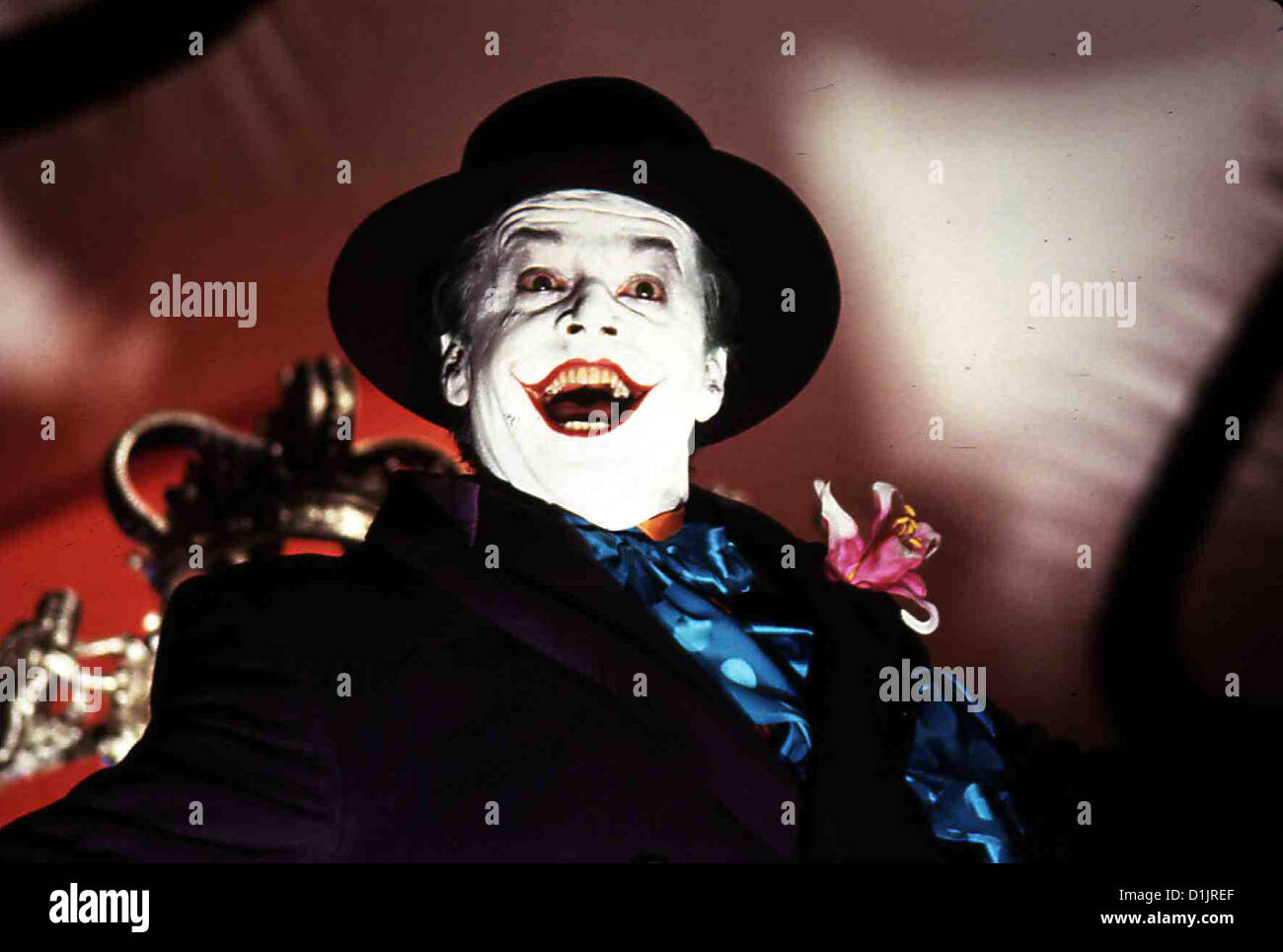 Batman  Batman  Jack Nicholson Joker (Jack Nicholson) will die Stadt Gotham City in seine Gewalt bringen. *** Local Stock Photo