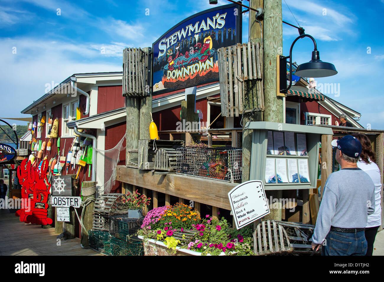 Stewmans Lobster pound, Bar Harbor, Maine, USA Stock Photo: 52787198 - Alamy