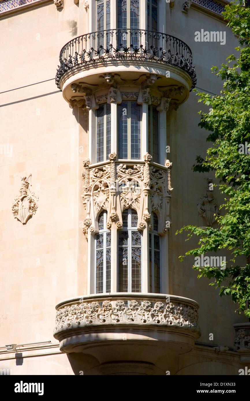 Apartment building ornate wrought iron stock photos - Milar palma de mallorca ...