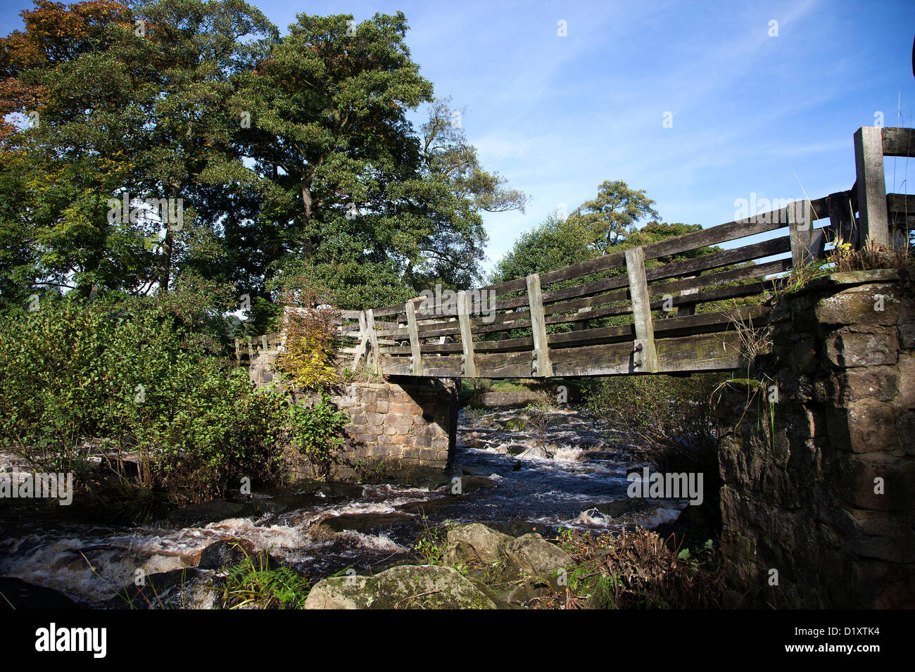 Bamford Cotton Mill on the River Derwent in the Peak District - Stock Image