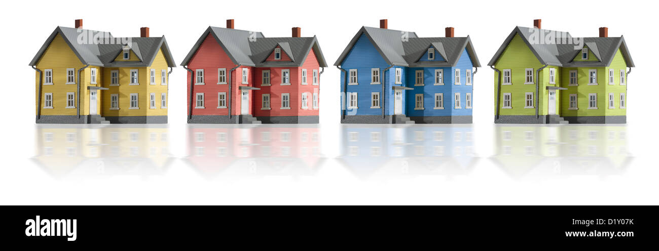 Houses in a row - Stock Image