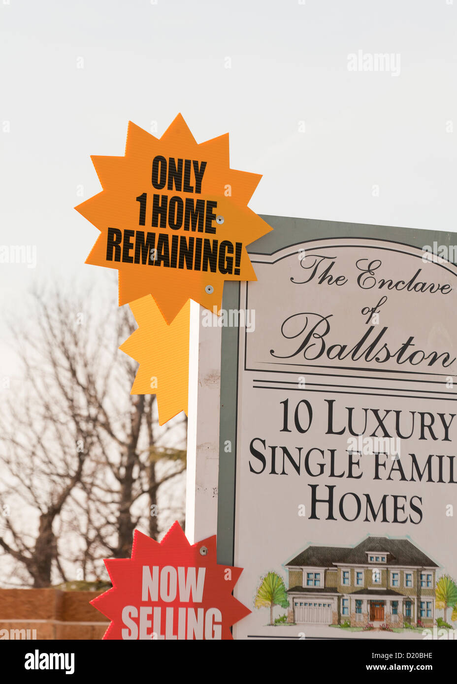New home sales sign - Stock Image