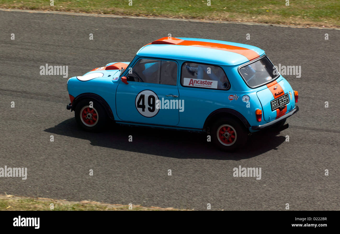 Jonathan Eales driving a 1969 Mini Sprint  in the Sprint event at motorsport at the palace 2011 - Stock Image