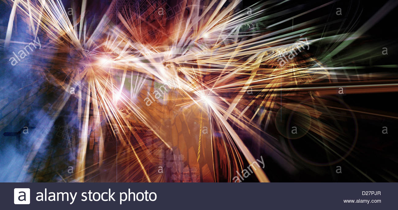 Abstract light beams - Stock Image