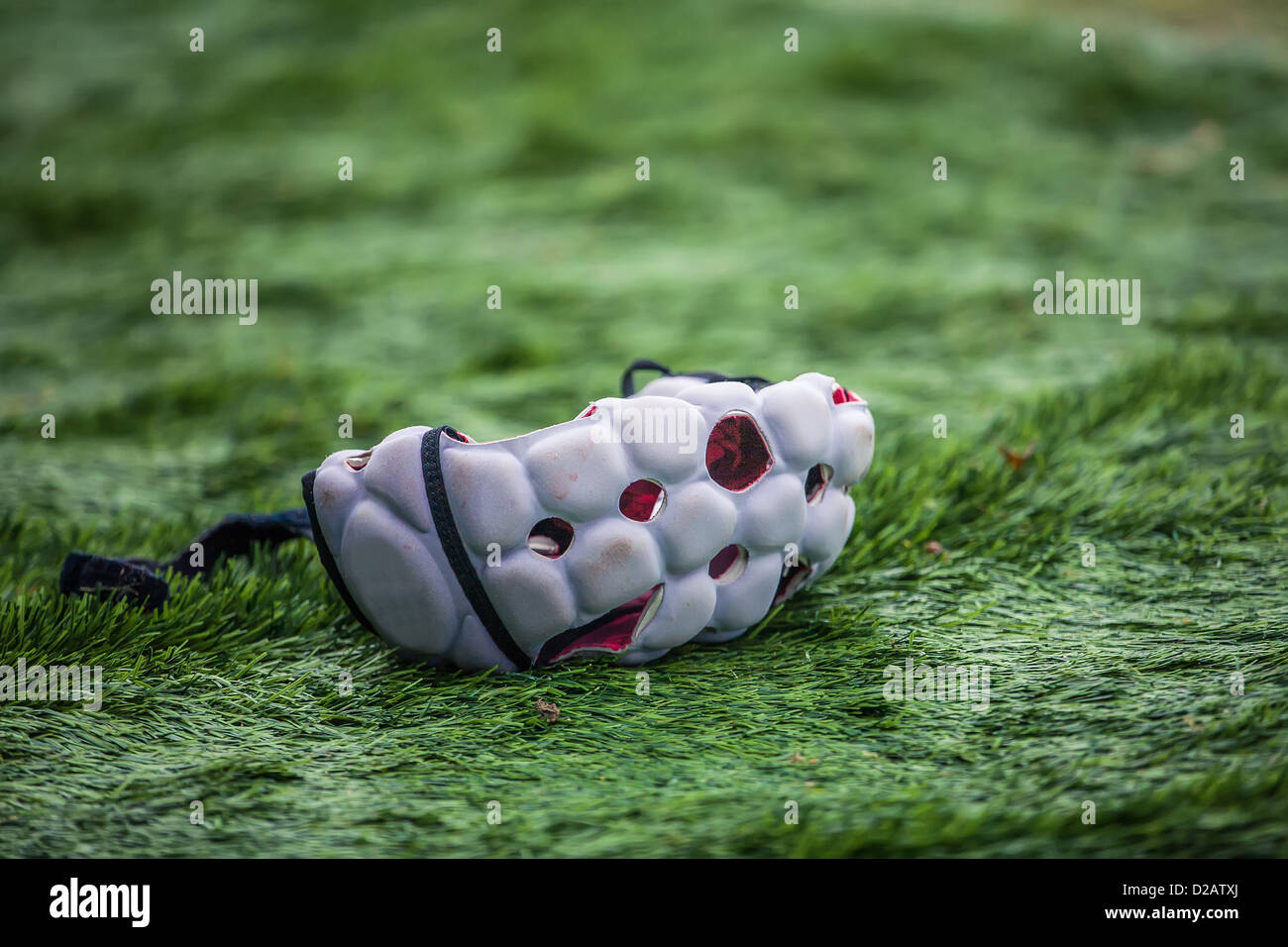 helmet rugby player - Stock Image