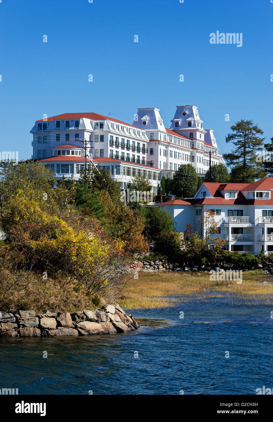 The Wentworth by the Sea (formerly The Hotel Wentworth), historic grand hotel in New Castle, New Hampshire, USA Stock Photo