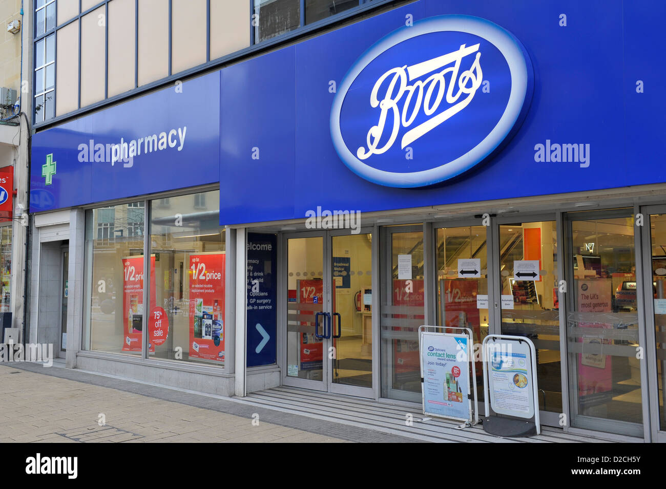 Boots Retail shop or unit on UK street Stock Photo