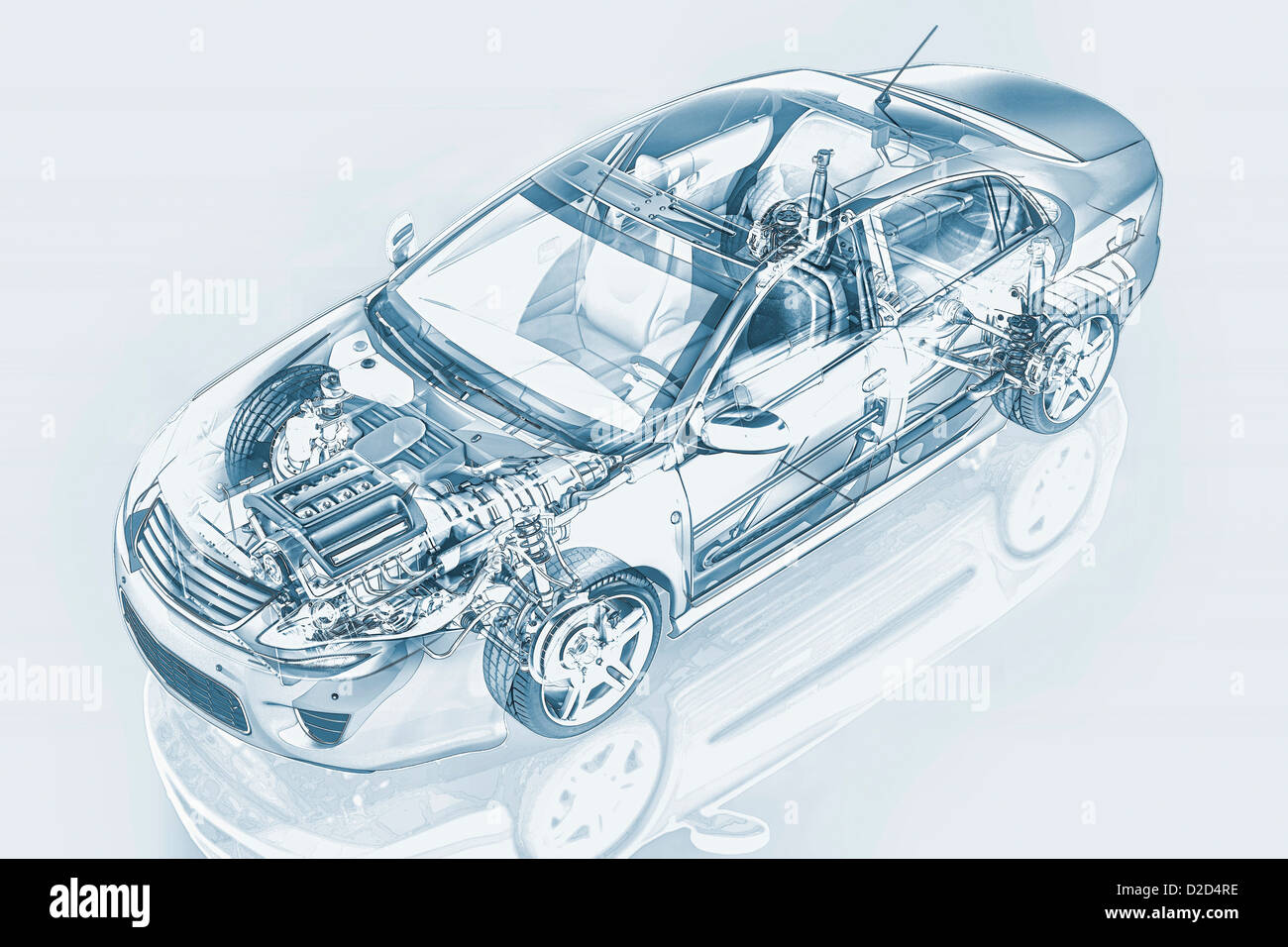 Car Engine Cutaway Stock Photos & Car Engine Cutaway Stock Images ...