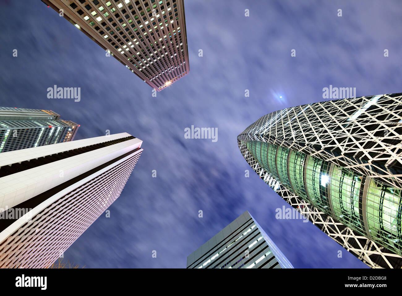 High Rises in Shinjuku Ward, Tokyo, Japan. - Stock Image