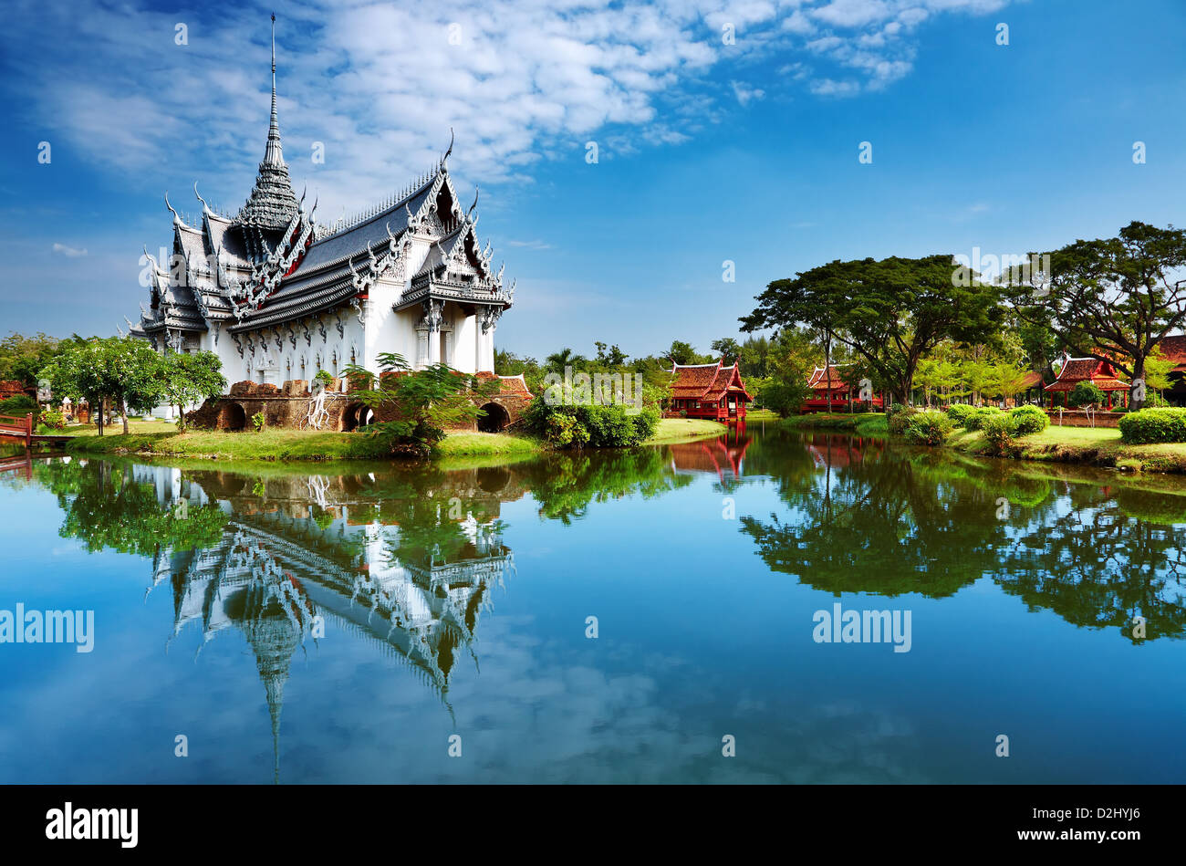 Sanphet Prasat Palace, Ancient City, Bangkok, Thailand - Stock Image