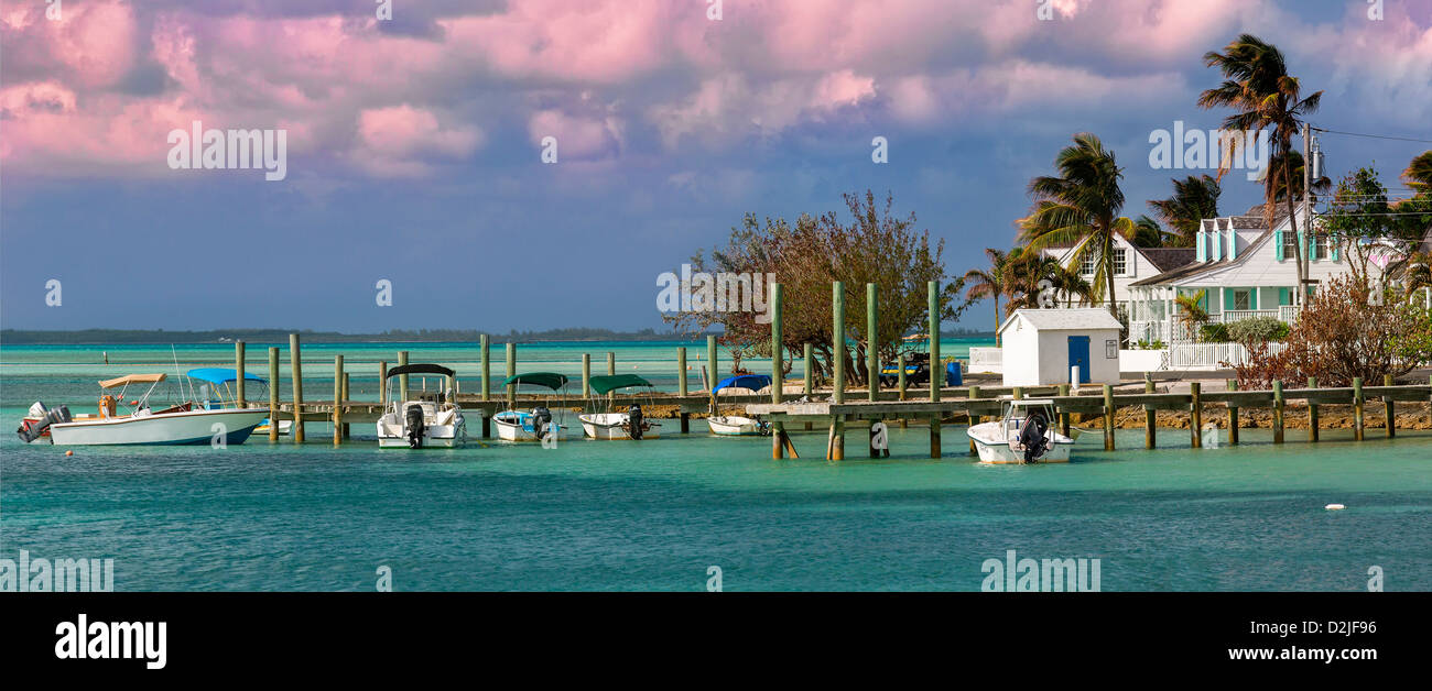Bahamas, Harbor Island Dunmore Town - Stock Image