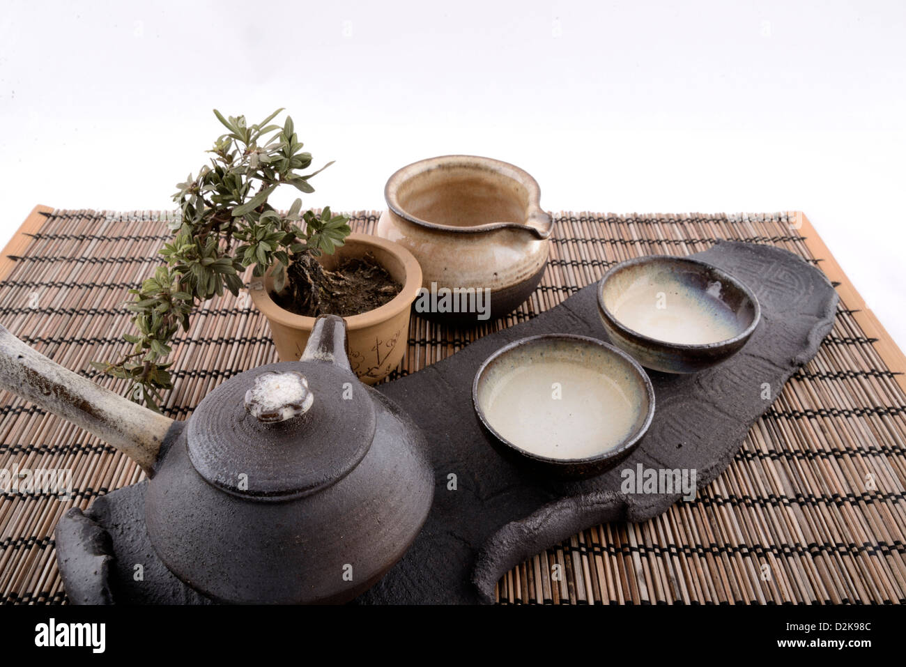 Product image of traditional Chinese tea set on a table setting with white seamless background. & Tea Set Display Stock Photos \u0026 Tea Set Display Stock Images - Alamy