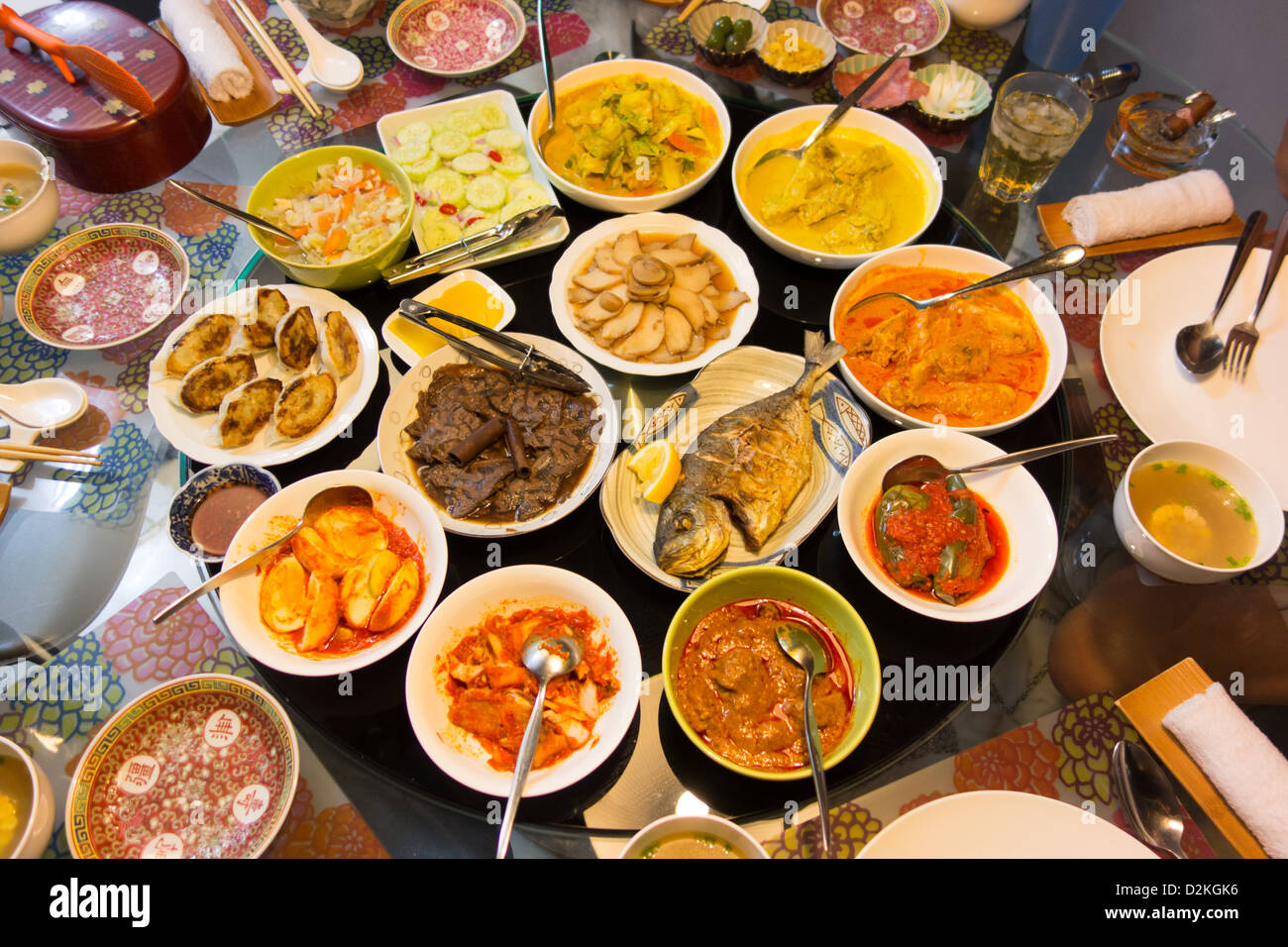 Feast of Asian Food Stock Photo