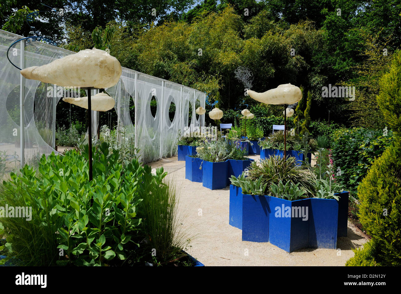 Festival International des Jardins display, Chateau de Chaumont, Chaumont Sur Loire, Indre-et-Loire, Loire Valley, - Stock Image